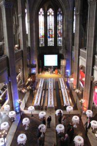 Empfang und entspanntes Dinner in der Elisabethenkirche