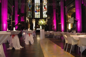 Combined reception and seated dinner at the Elisabethenkirche