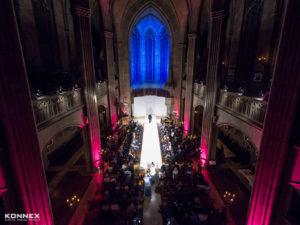 Modenschau mit farblichen Highlights in der Elisabethenkirche
